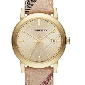 Burberry Accessories - New Women's Bu9026 The City Haymarket Check Watch